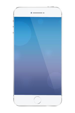 Modern smartphone on white background