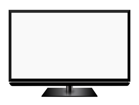 Smart TV screen isolated on white background photo