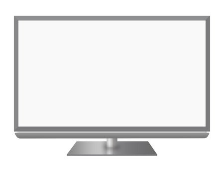 Television on white background Stock Photo