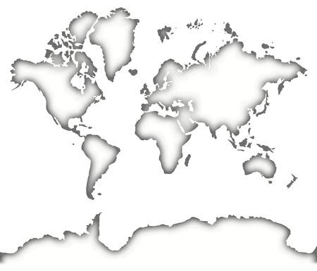 White old map isolated on white background 版權商用圖片