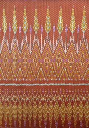 Thai style native cloths Stock Photo