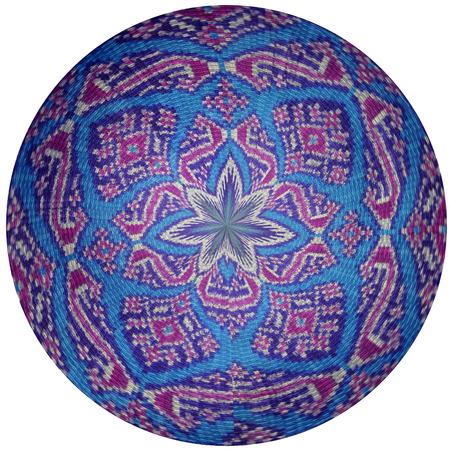 Abstract fabric sphere background 版權商用圖片