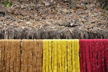 Thai silk thread background