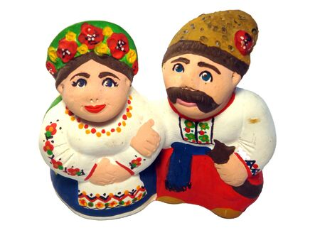 Two figures of ukrainian family