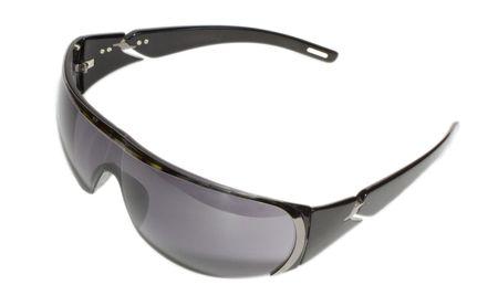 Dark sunglasses isolated in white
