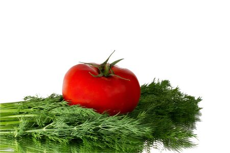 FRESH TOMATO AND DILL ON THE MIRROR