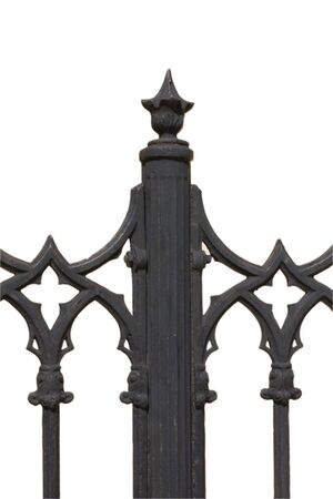 Swirl ornament, element of decorative lattice, isolated on white. Stock Photo