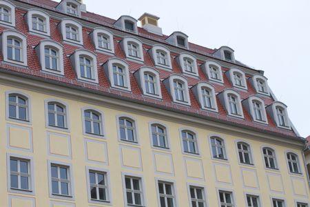 Houses near the Frauenkirche, Dresden Stock Photo