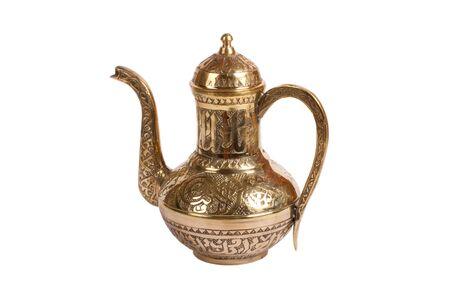 Oriental turkish kettle for tea photo