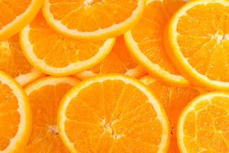 Fresh and big orange slices background photo