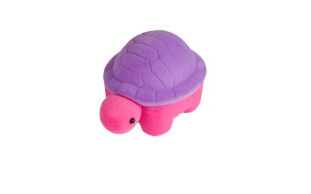 Color soft turtle toy isolated on white