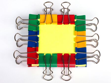Memo card with color metal clip