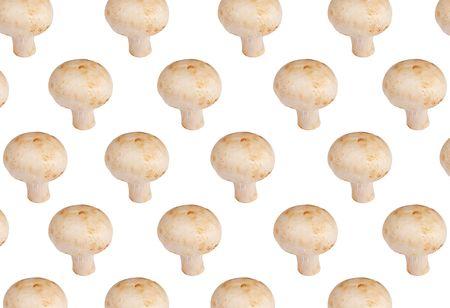 Fresh champinions mushroom background  Stock Photo