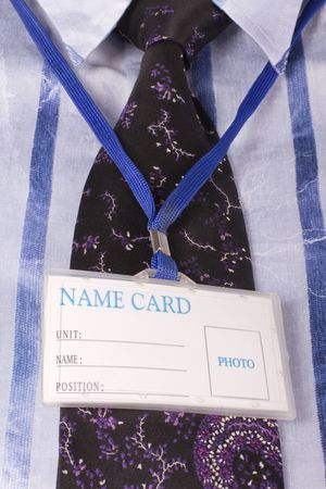 Name card on the neck Stock Photo