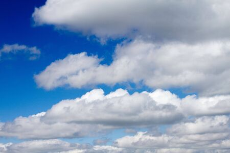 Cloudy blue sky, texture, background Stock Photo