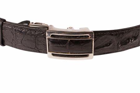 Black belt isolated on white Stock Photo
