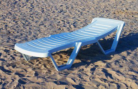 Beach chair on a empty beach
