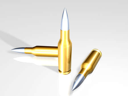 defense equipment: Bullets Stock Photo