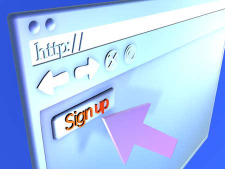 Browser Closeup - Signup Stock Photo - 490556