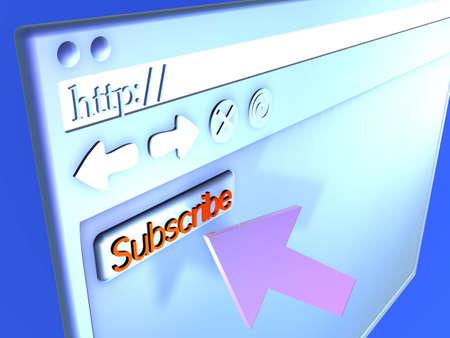 Browser Closeup - Subscribe Stock Photo - 490555