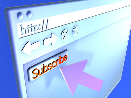 subscribe: Browser Closeup - Subscribe Stock Photo