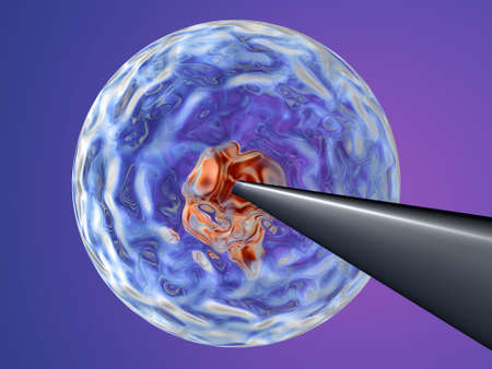 Cloning - injecting DNA 1 Stock Photo - 490505