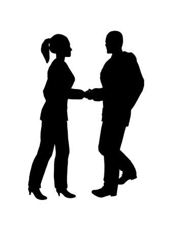 contracting: Handshake - Silhouette