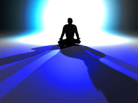 conscious: Zen Illumination Stock Photo