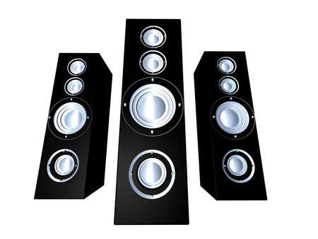 decibel: Speakers Stock Photo