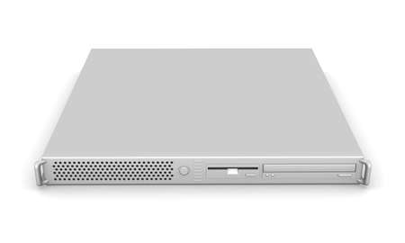 file share: Aluminium 19inch Server Stock Photo