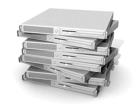 Stacked 19inch Server photo