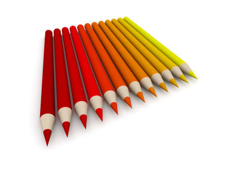 Crayon Color Spectrum - red Stock Photo - 573612