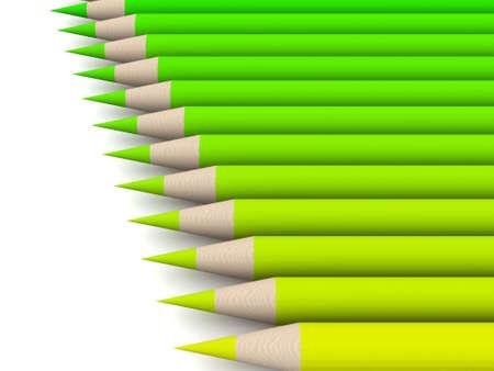 Crayon Color Spectrum - green Stock Photo - 573613