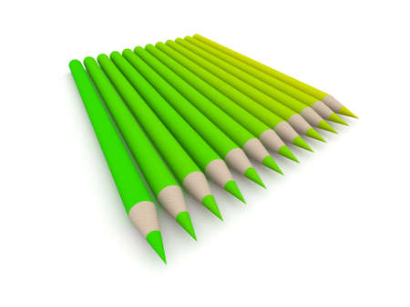 Crayon Color Spectrum - green Stock Photo - 573614