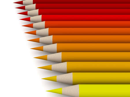 Crayon Color Spectrum - red Stock Photo - 573615