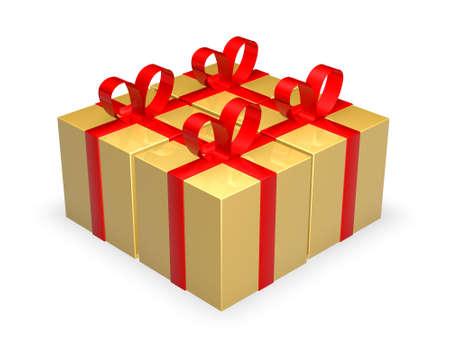 Four Gift Boxes Stock Photo - 1193503