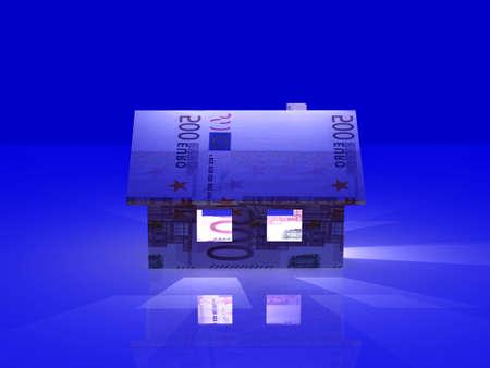 nightly: Nightly Euro Toy House Stock Photo