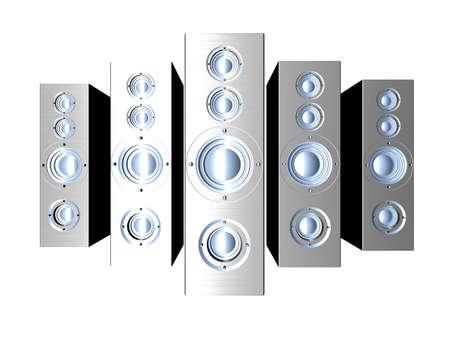 Aluminium Speakers Stock Photo - 2496999