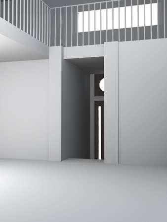 cold room: Concrete House Interior