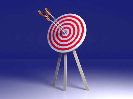 concision: Target hit    Stock Photo