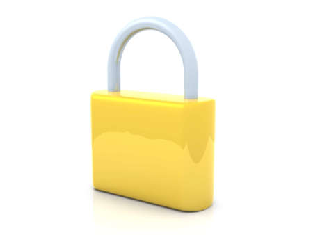 Golden Padlock Stock Photo - 2850996