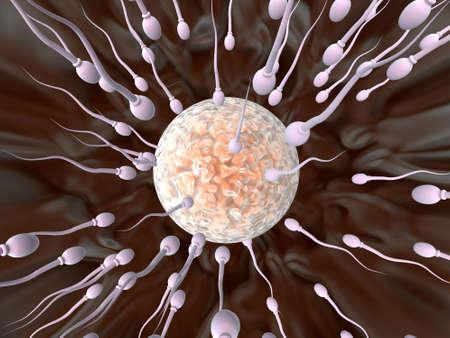 orgasm: Sperm Attack  Stock Photo