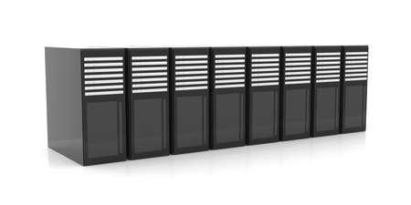 fileserver: Line of Server Racks