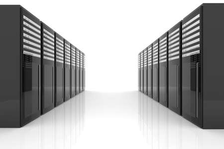 bandwidth: Server Room Stock Photo
