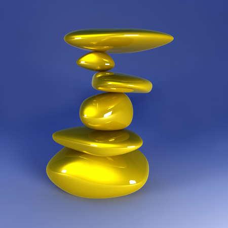 gold mine: Balancing Gold Nuggets Stock Photo