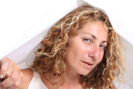 subtlety: Hidden Woman Stock Photo