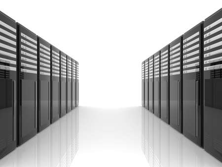 server room: Server Room - isolated Stock Photo