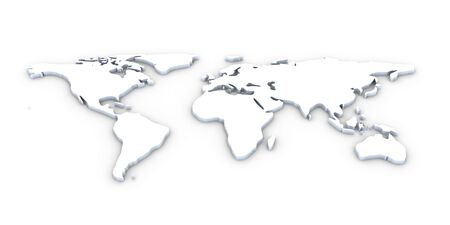3D World map  Stock Photo