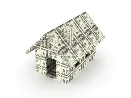 mortgage rates: Dollar Toy House  Stock Photo