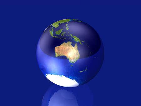 glas: Glassy Globe - Australia Stock Photo